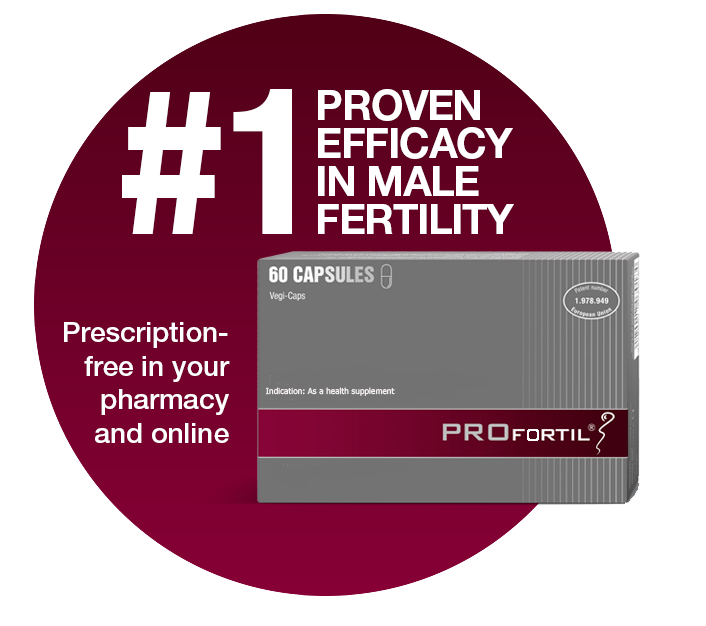 PROFORTIL®: #1 proven efficacy in male fertility